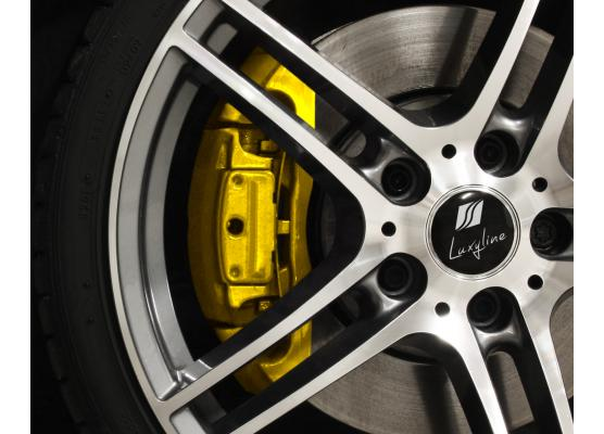 Painting kit for brake calipers yellow