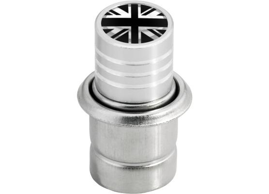 Zigarettenanzünder EnglandFahne Vereinigtes Königreich Englisch British schwarz  chromfarbig
